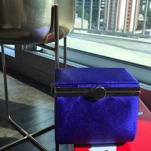 Satin blue mini bag from ASOS